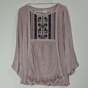 Knox Rose Dusty Pink Blouse